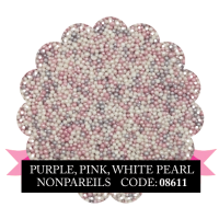 Purple, Pink, White Pearl Non Pareils 500g