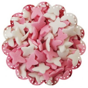 Butterflies White and Pink 1kg (sorry, out of stock)