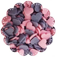 Hearts Purple and Pink 100g