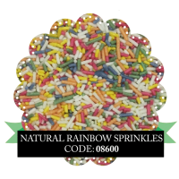 Natural Rainbow Sprinkles 100g