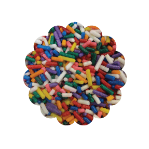 Artificial Rainbow Sprinkles 100g